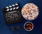Cinemark 50% off
